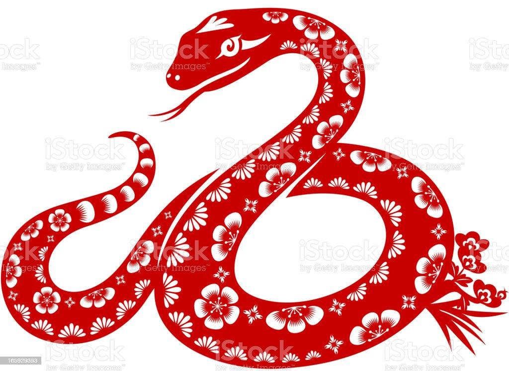 Year of the Snake vector art illustration