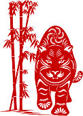 Year of The Tiger Paper-cut Art