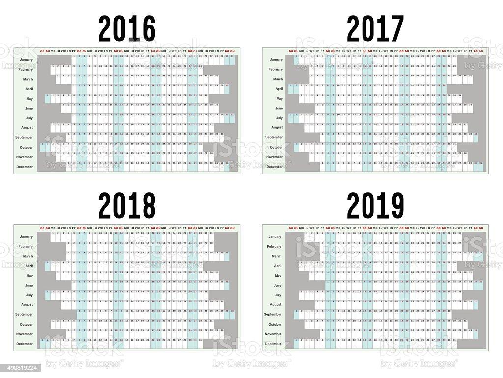 Planejadores de ano - ilustração de arte em vetor
