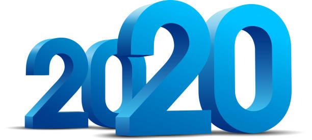 2020 Jahr – Vektorgrafik