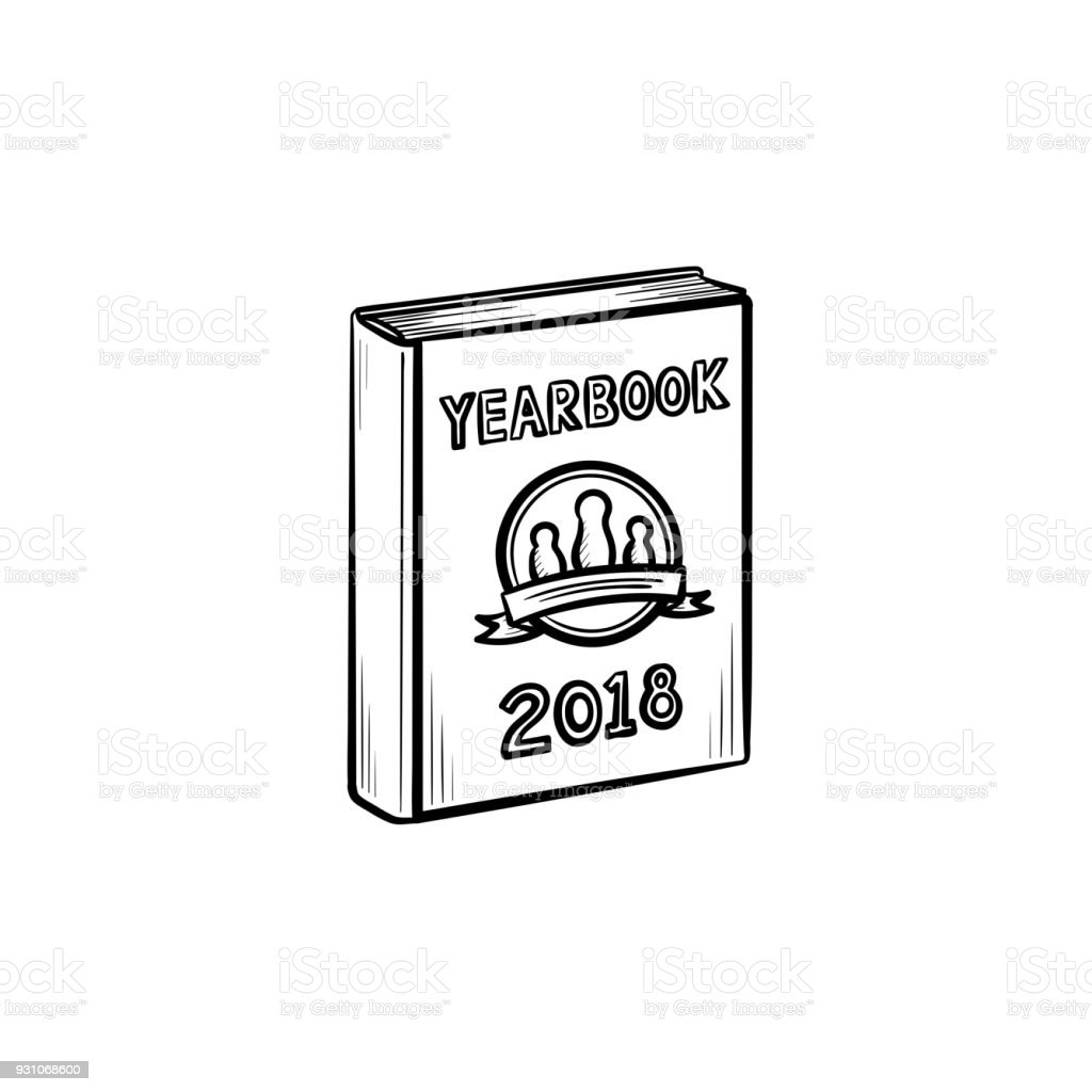 Jahrbuch Handsymbol Gezeichnete Skizze Stock Vektor Art und mehr ...