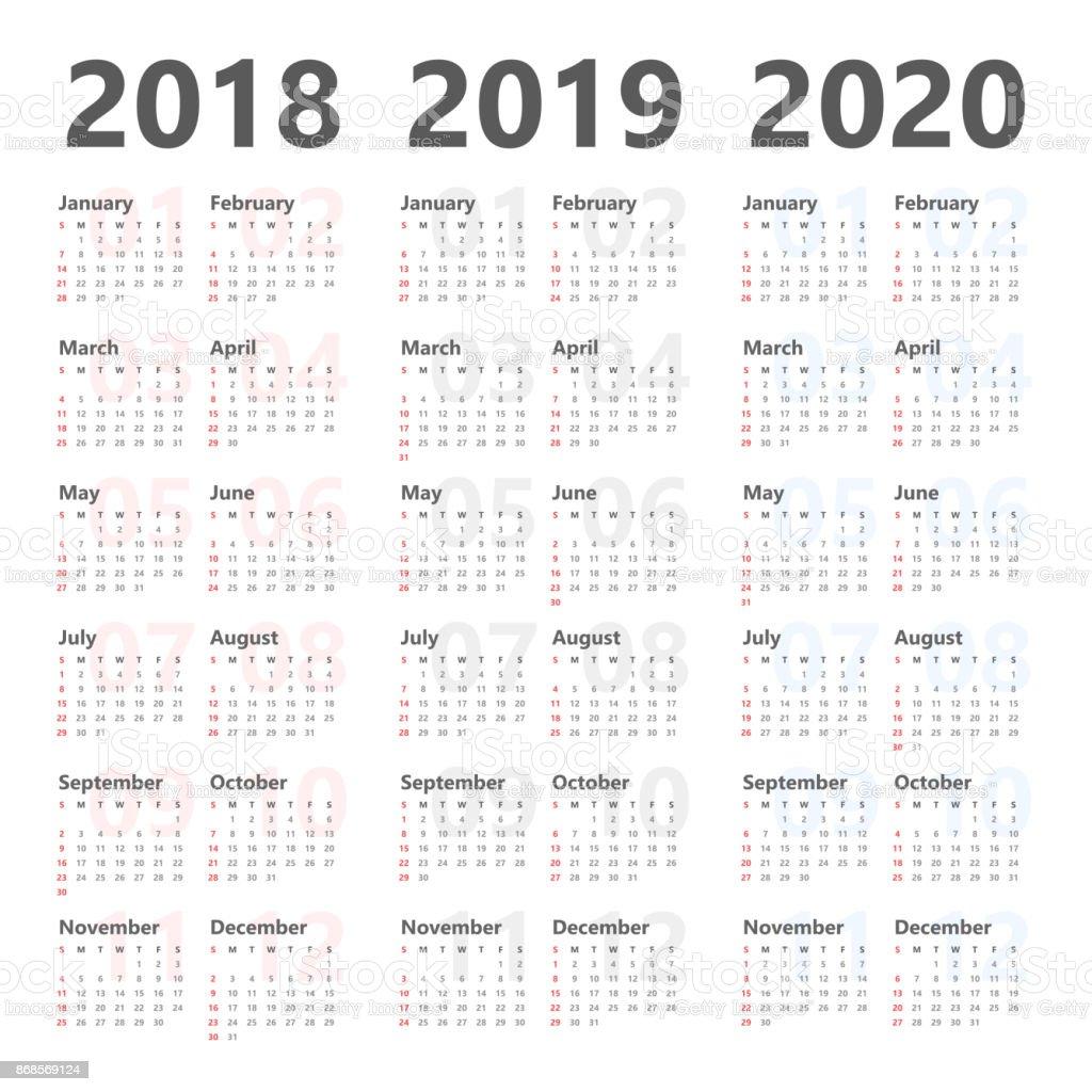 Jährliche Kalender Planer Wandschablone Für Die Nächsten 3 Jahre ...