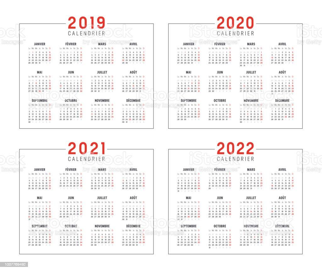 Calendrier C1 2022 2021