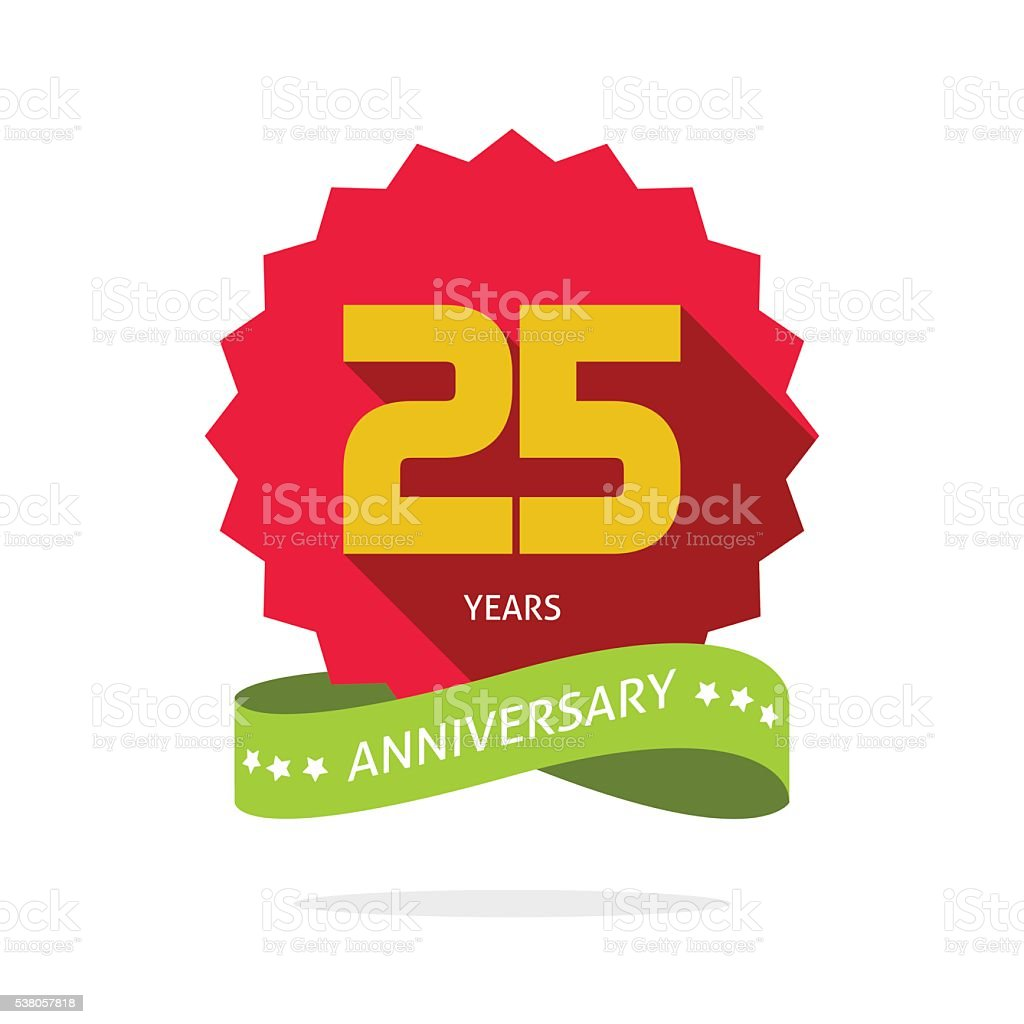 Years 25 anniversary vector label logo badge
