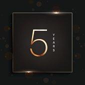 5 year anniversary banner