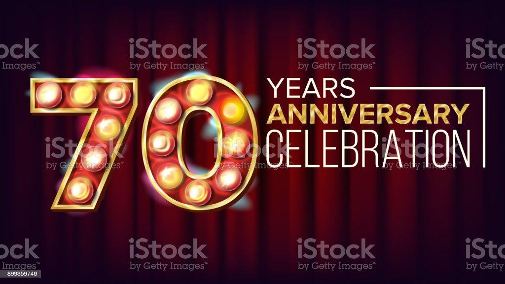 Download 70 Years Anniversary Banner Vector Seventy Seventieth ...