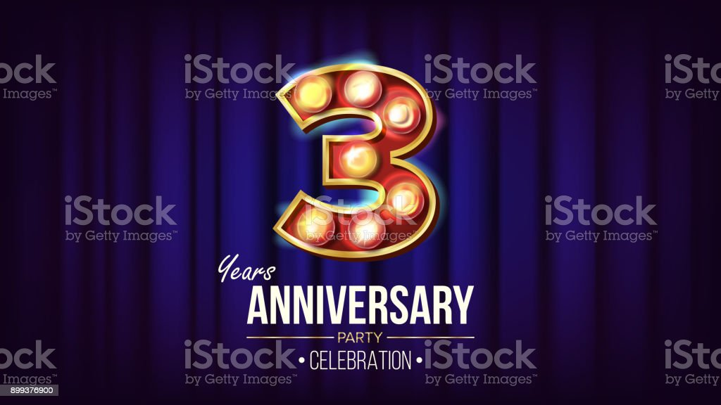 Anniversary letters vector word banner sign royalty free cliparts