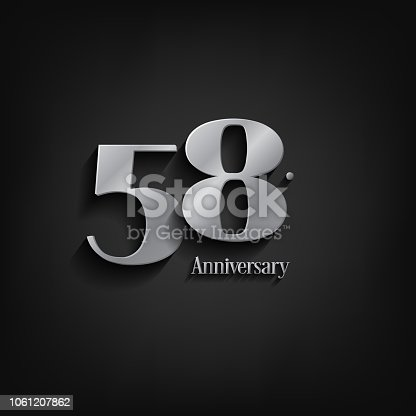 anniversary  celebration. Anniversary logo elegance number and 3D style color and shadow isolated on black background, vector design for celebration, invitation card, and greeting card