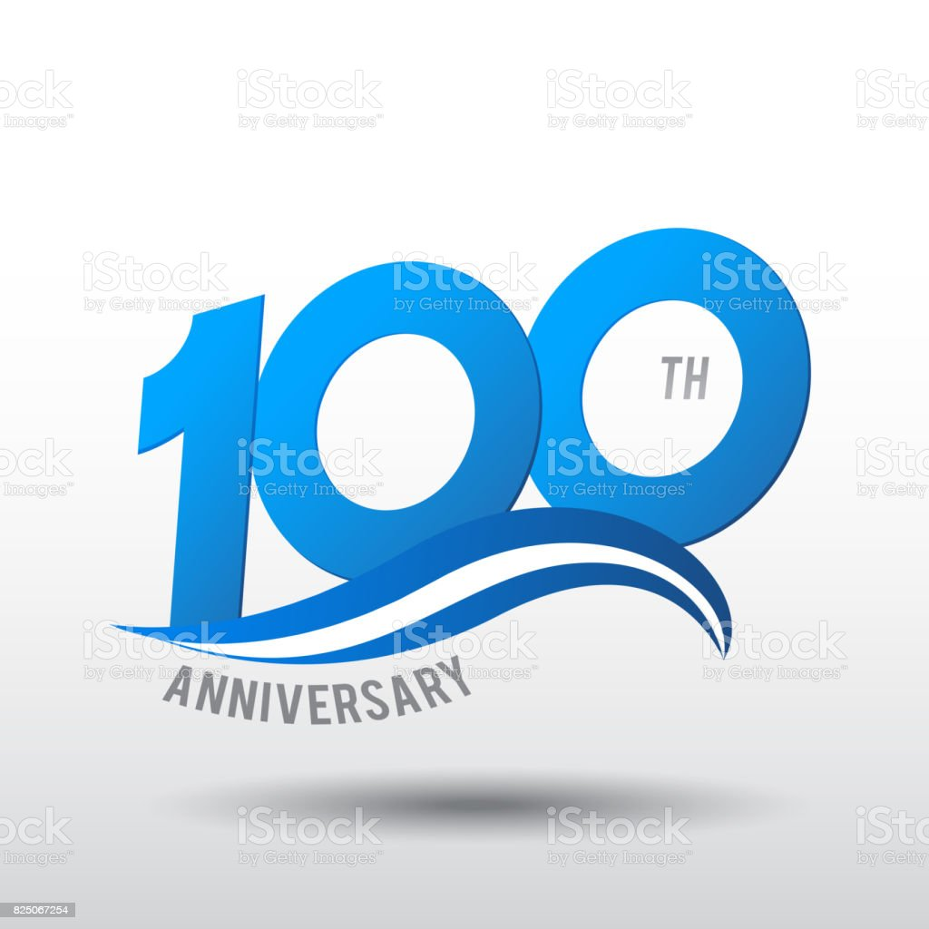 100 Years Anniversary Celebration Design icon vector art illustration