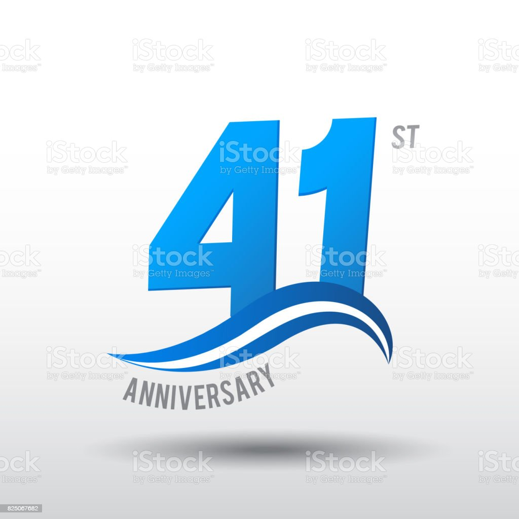 Logo Design De Celebration Anniversaire 41 Ans Cliparts Vectoriels