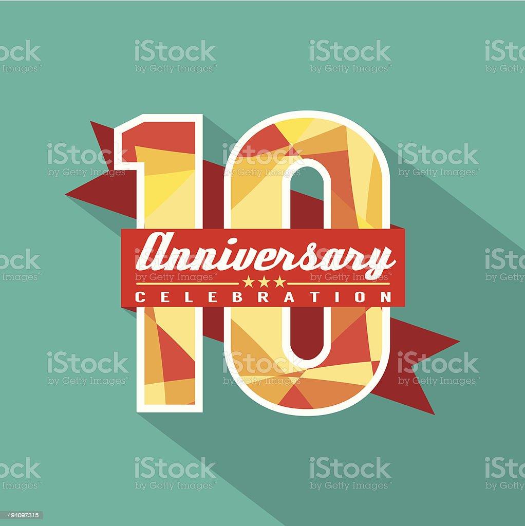 10 Years Anniversary Celebration Design vector art illustration
