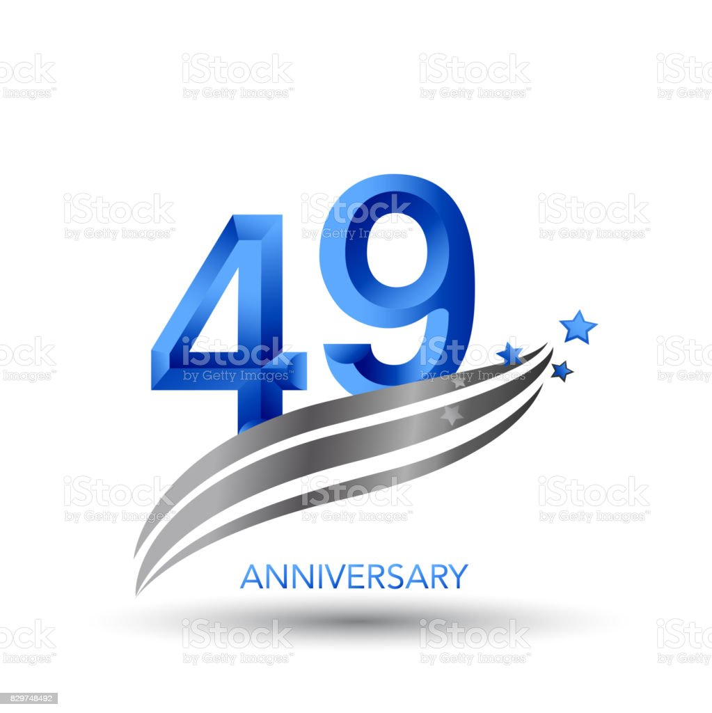 49 Years Anniversary Celebration Design vector art illustration