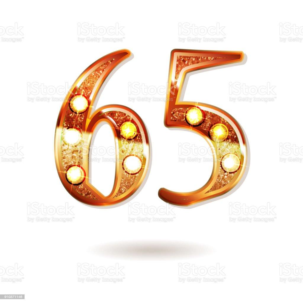 65 years anniversary celebration design vector art illustration