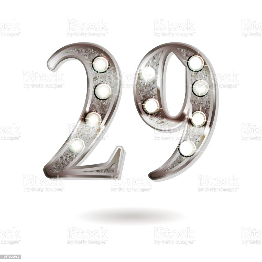 29 years anniversary celebration design vector art illustration