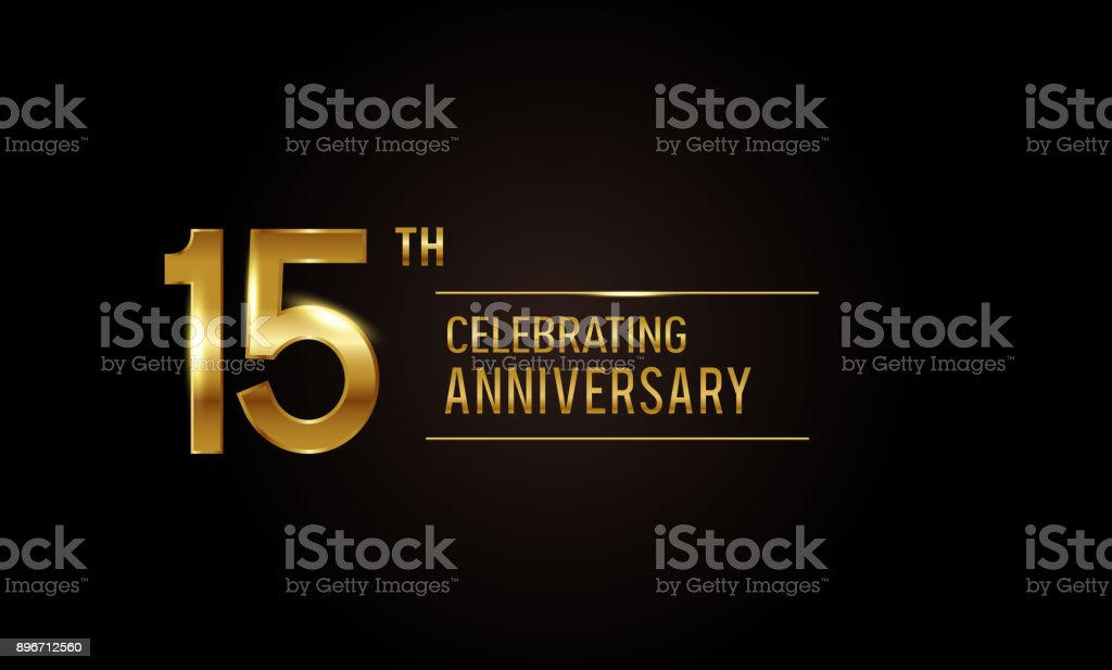 15 Years Anniversary Celebration Logotype Anniversary Logo With