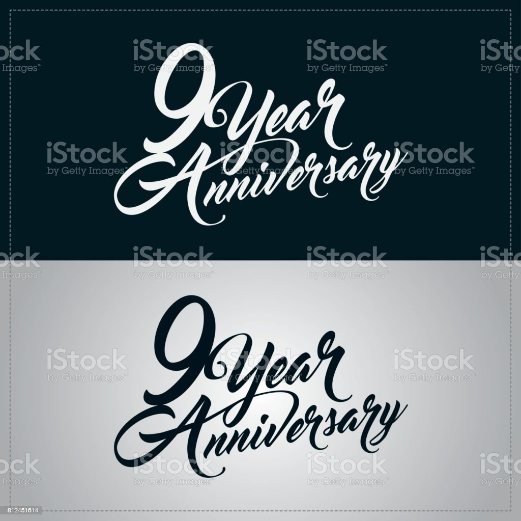 Logotype De Celebration Anniversaire 9 Ans Cliparts Vectoriels Et