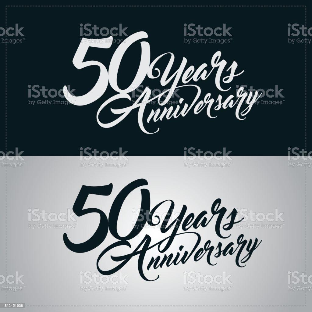 50 years anniversary celebration logotype vector art illustration