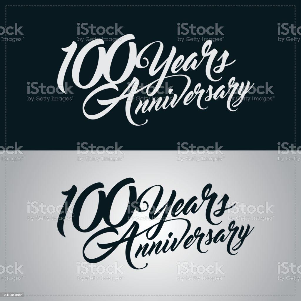 100 years anniversary celebration logotype vector art illustration