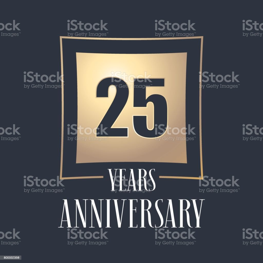 25 Jahre Jubiläum Feier Vektor icon – Vektorgrafik