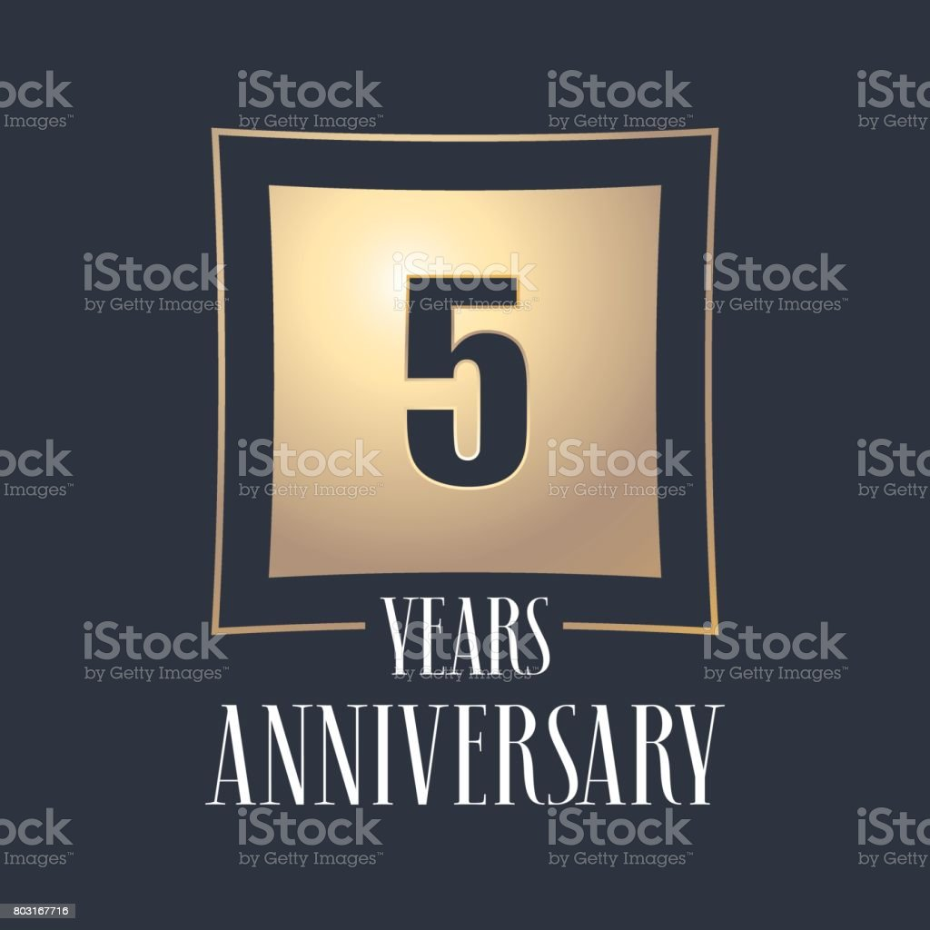 5 years anniversary celebration vector icon vector art illustration