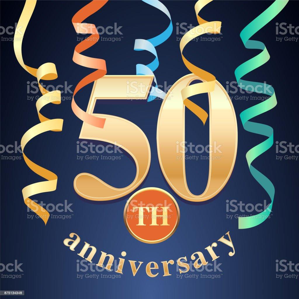 50 years anniversary celebration vector icon vector art illustration