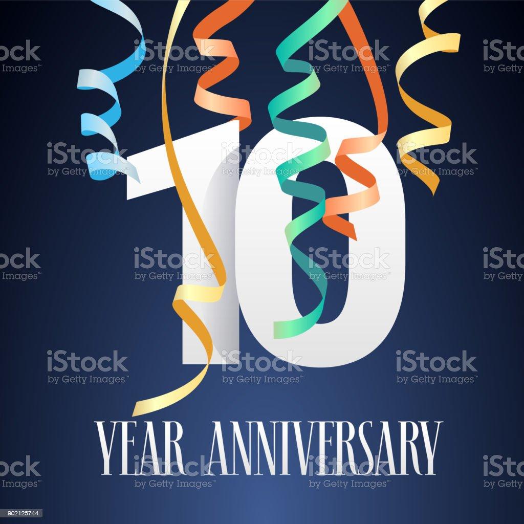 10 years anniversary celebration vector icon vector art illustration