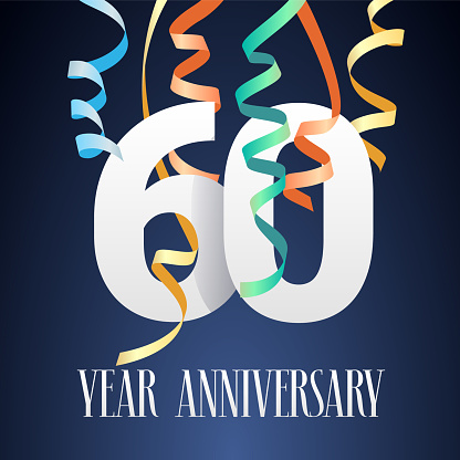 Download 60 Years Anniversary Celebration Vector Icon Stock ...
