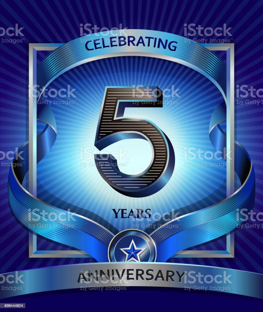 5 years anniversary design template for invitation advertising 5 years anniversary design template for invitation advertising banner vector design royalty biocorpaavc Gallery