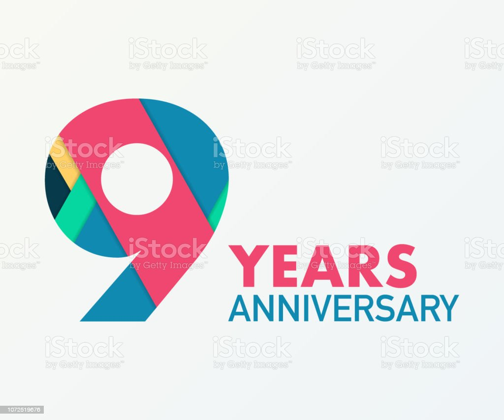 9 Years Anniversary Emblem Anniversary Icon Or Label 9 Years Celebration And Congratulation Design Element Stock Illustration Download Image Now Istock