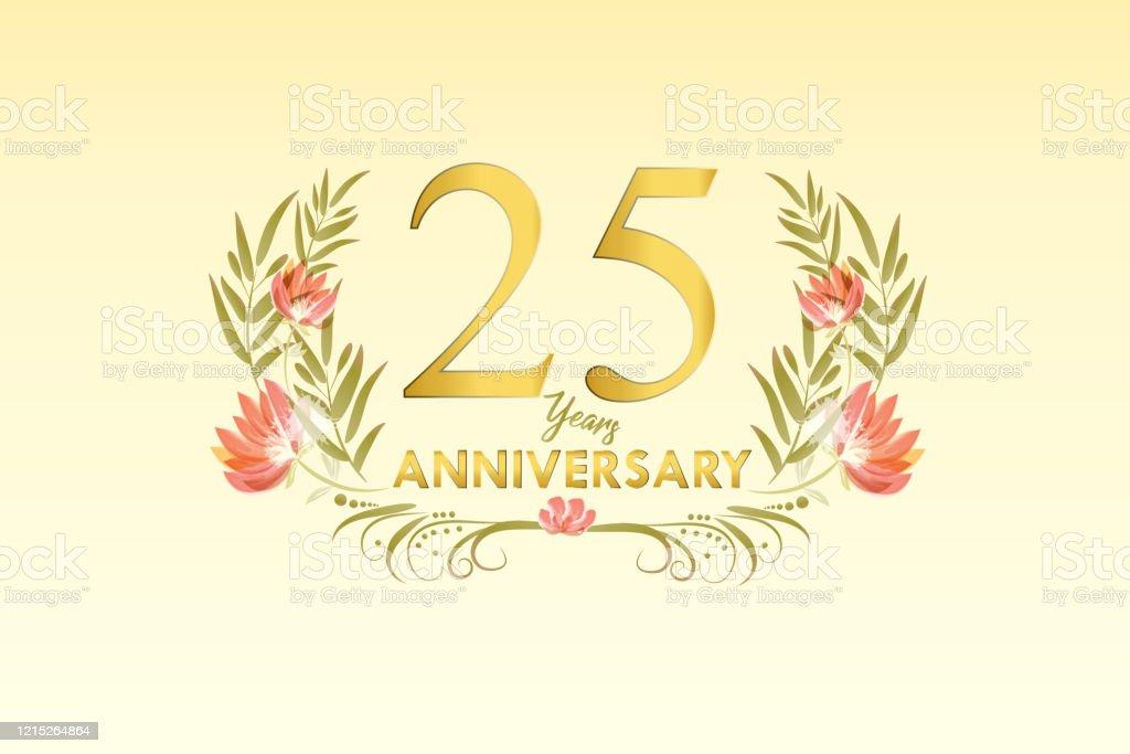 25 Ans Anniversaire Joyeux Anniversaire Carte Daquarelle Or Vecteurs Libres De Droits Et Plus D Images Vectorielles De 25 29 Ans Istock