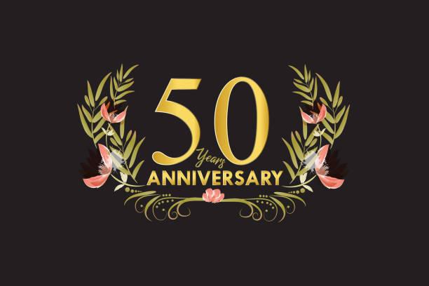 1 318 50th Wedding Anniversary Illustrations Clip Art Istock