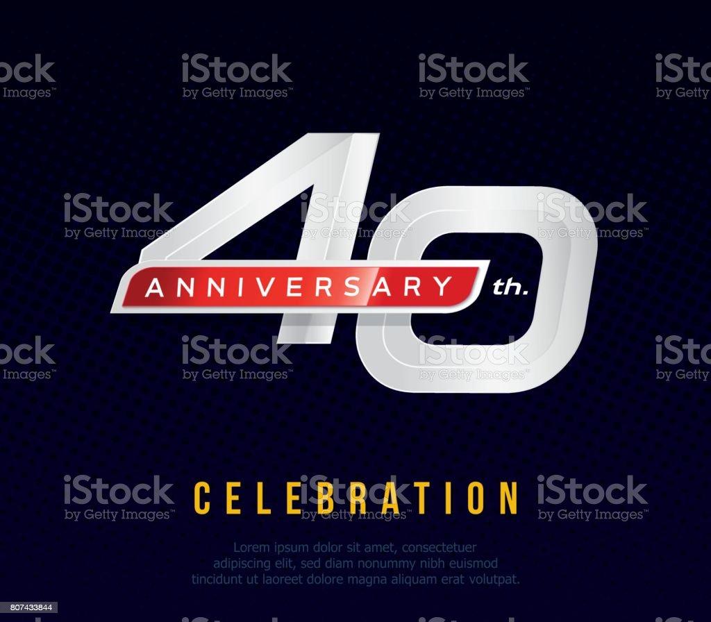 https www istockphoto com fr vectoriel 40 ans anniversaire carte dinvitation mod c3 a8le de c c3 a9l c3 a9bration 40e ic c3 b4ne de gm807433844 130929589
