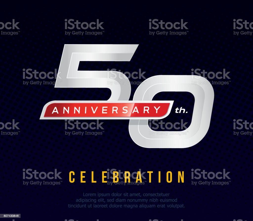 50 Years Anniversary Invitation Card Celebration Template