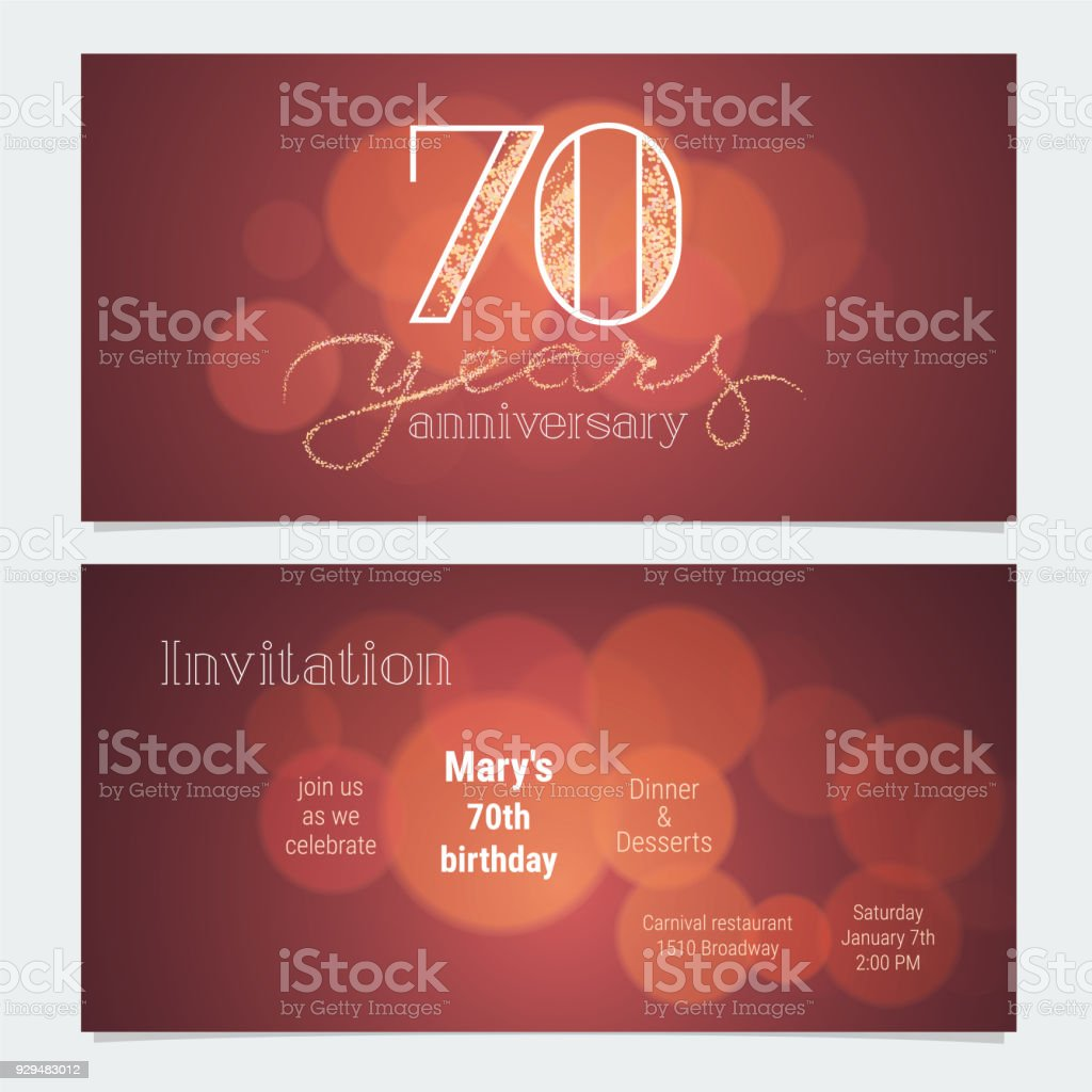 70 years anniversary invitation vector stock vector art more 70 years anniversary invitation vector royalty free 70 years anniversary invitation vector stock vector art stopboris Choice Image