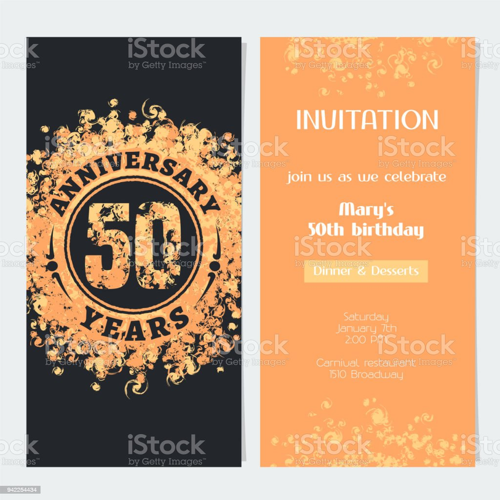 50 years anniversary invitation vector arte vetorial de stock e 50 years anniversary invitation vector 50 years anniversary invitation vector arte vetorial de stock e stopboris Choice Image