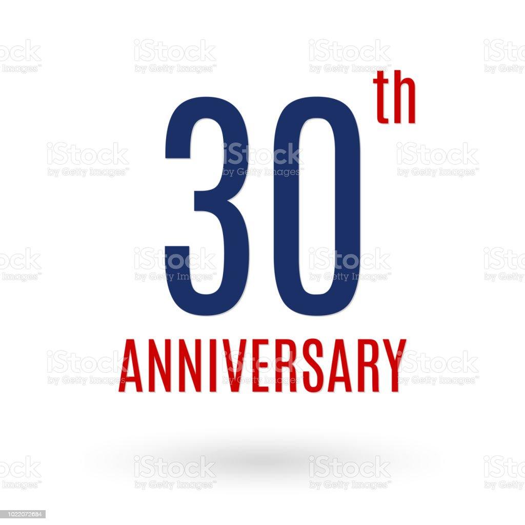 Nouvel Logo Anniversaire 30 Ans Icône De Célébration 30e Anniversaire KH-44