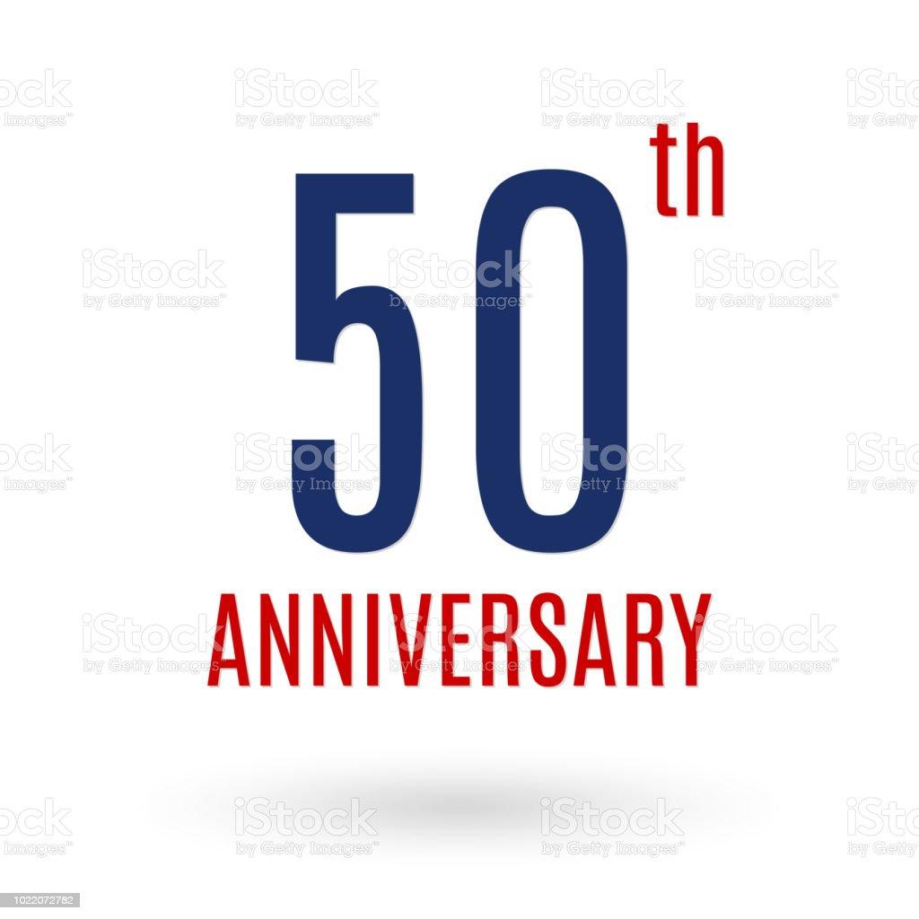50 Jahre Jubiläumslogo 50 Jahrestag Feier Symbol Geburtstag