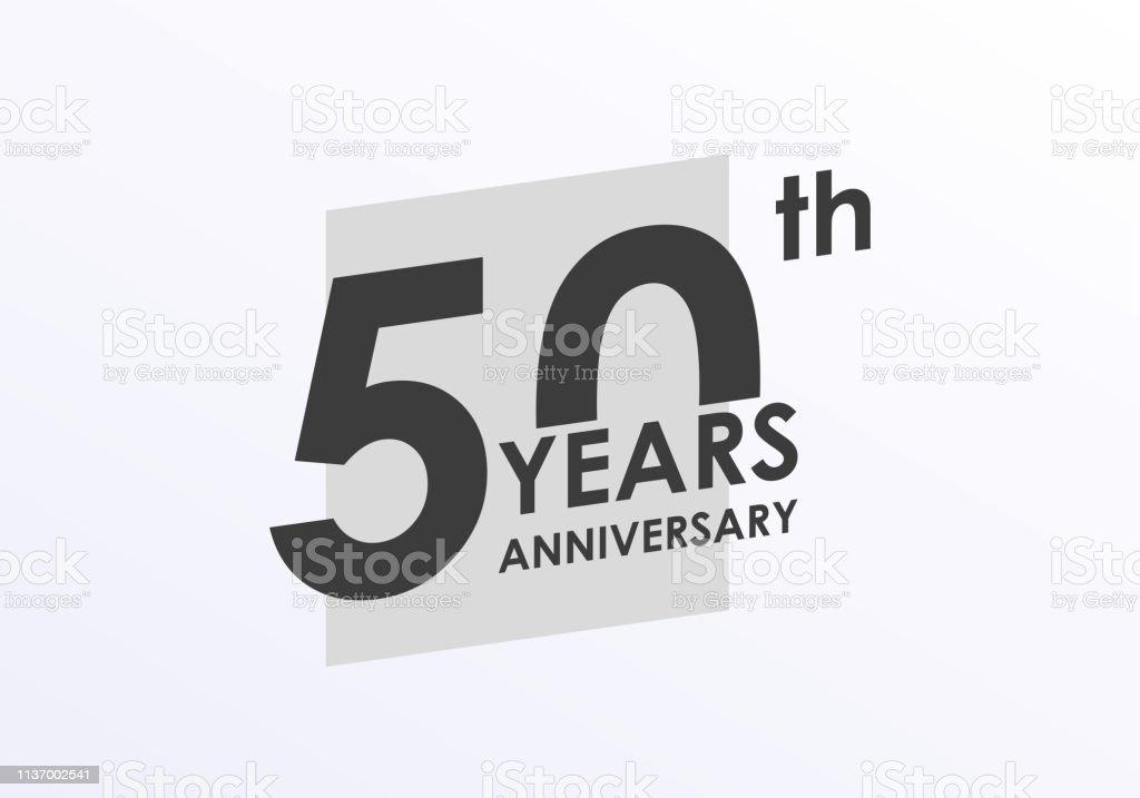 50 Ans Logo Anniversaire 50e Anniversaire Badge Graphisme