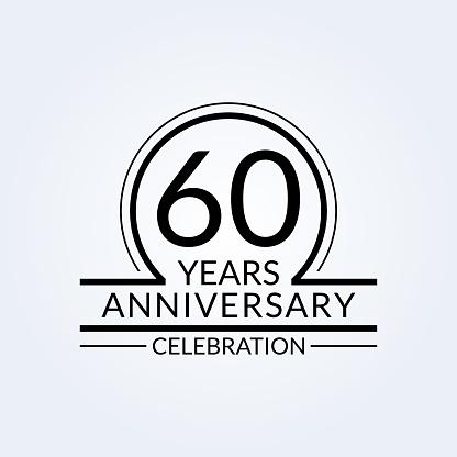 Download 60 Years Anniversary Logo 60th Birthday Celebration Icon ...