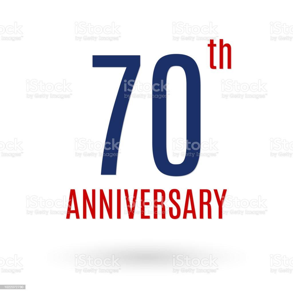 Ilustración De Logotipo Del Aniversario De 70 Años Icono De