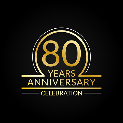 Download 80 Years Anniversary Logo 80th Birthday Celebration Icon ...