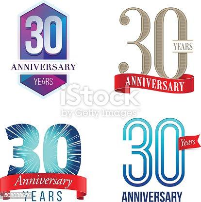 istock 30 Years Anniversary Logo 508038656