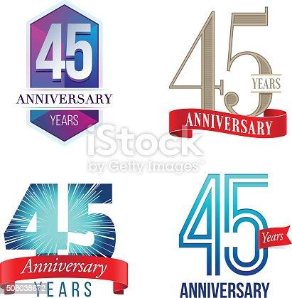istock 45 Years Anniversary Logo 508038672