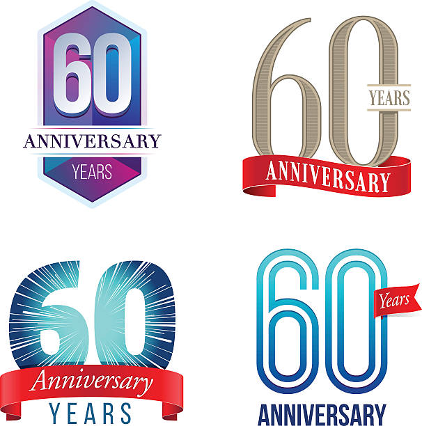 60 Years Anniversary Logo vector art illustration