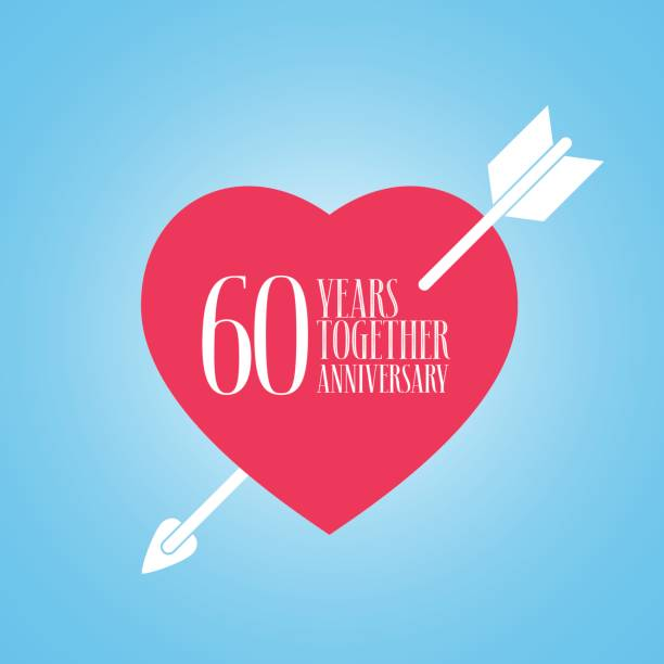 Royalty Free 60th Wedding Anniversary Clip Art, Vector Images ...