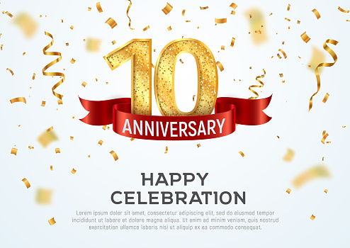 Free 10 Year Anniversary Clipart In Ai Svg Eps Or Psd