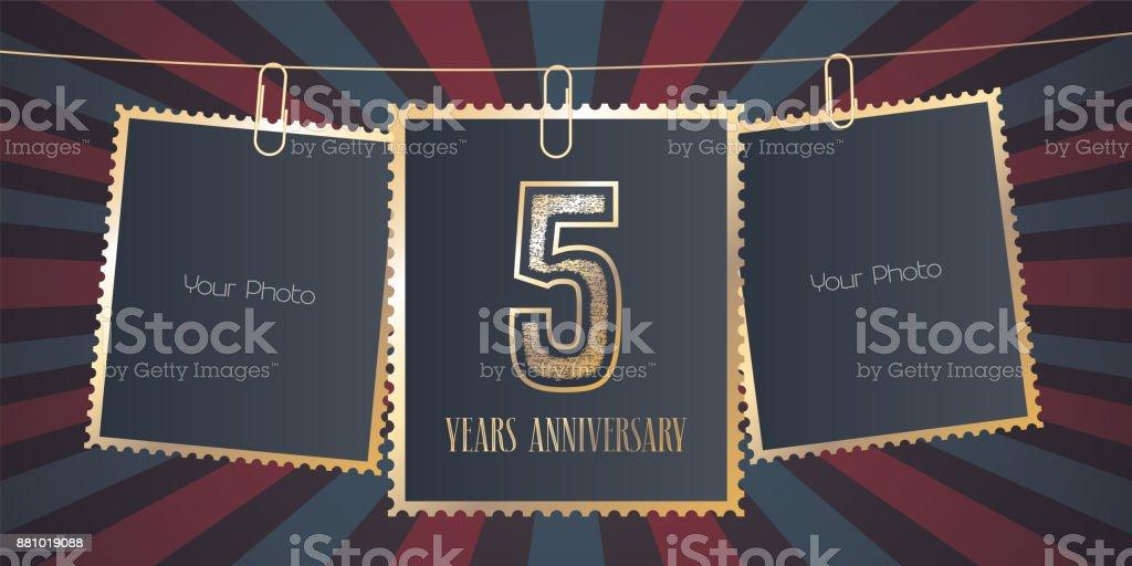 5 years anniversary vector emblem vector art illustration