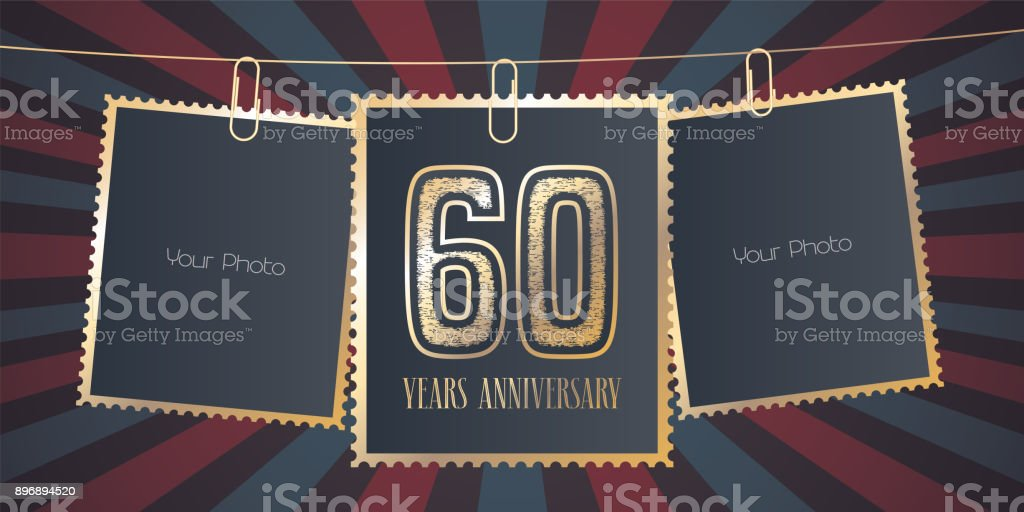 60 years anniversary vector emblem vector art illustration