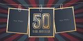 50 years anniversary vector emblem