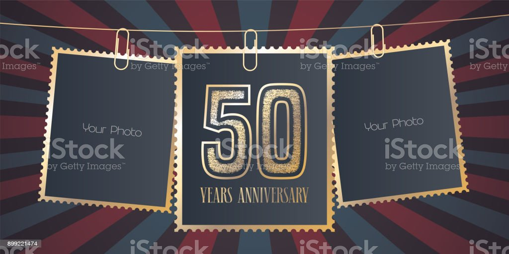 50 years anniversary vector emblem vector art illustration